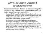 why g 20 leaders discussed structural reform