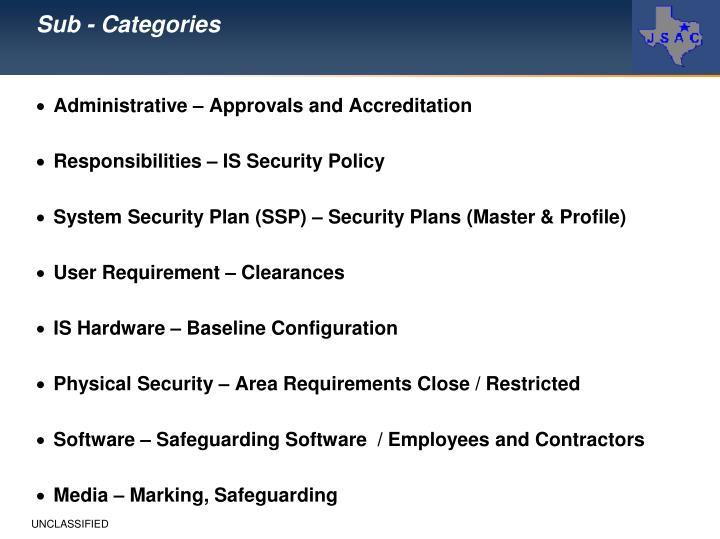 Sub - Categories