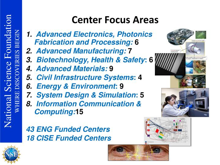 Center Focus Areas