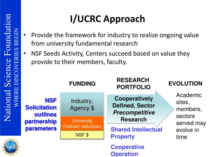 I/UCRC Approach
