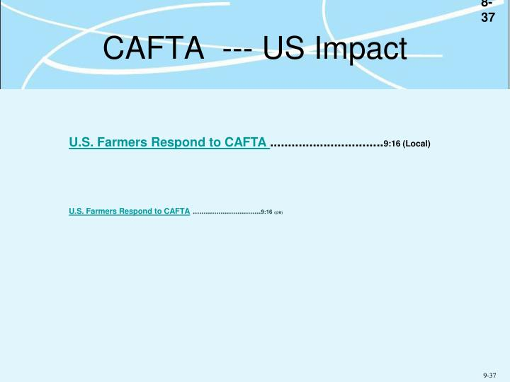 CAFTA  --- US Impact