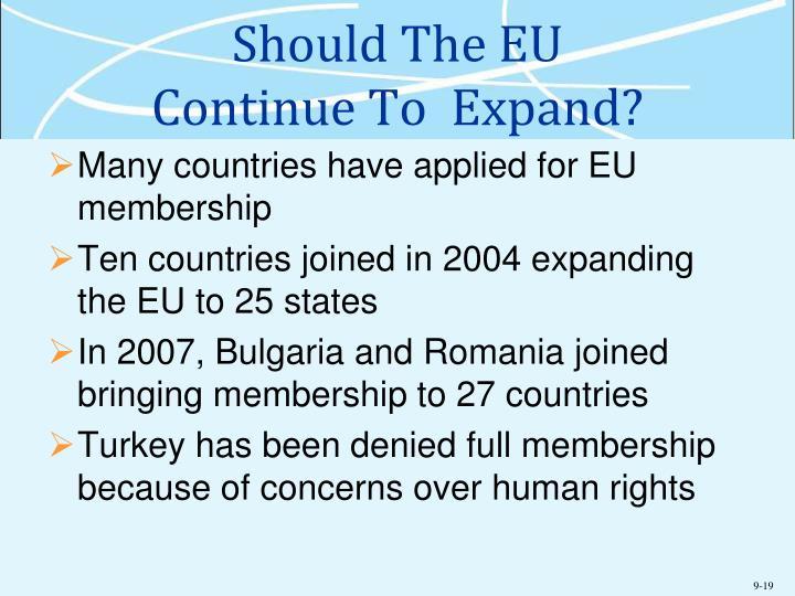 Should The EU