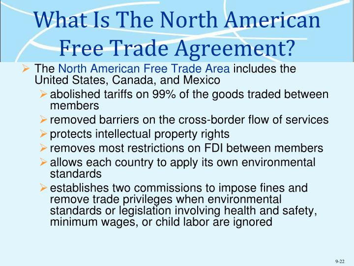 What Is The North American Free Trade Agreement?