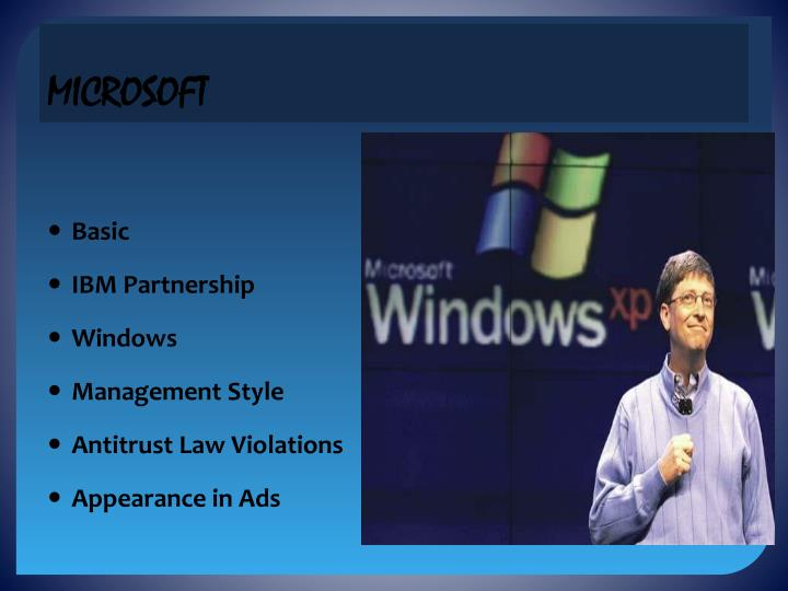 an introduction to microsoft and antitrust law in the united states Microsoft antitrust lawsuit project - introduction / charges against microsoft on july 15, 1994, the united states sued microsoft for unlawfully maintaining its monopoly in the market for pc operating system software.