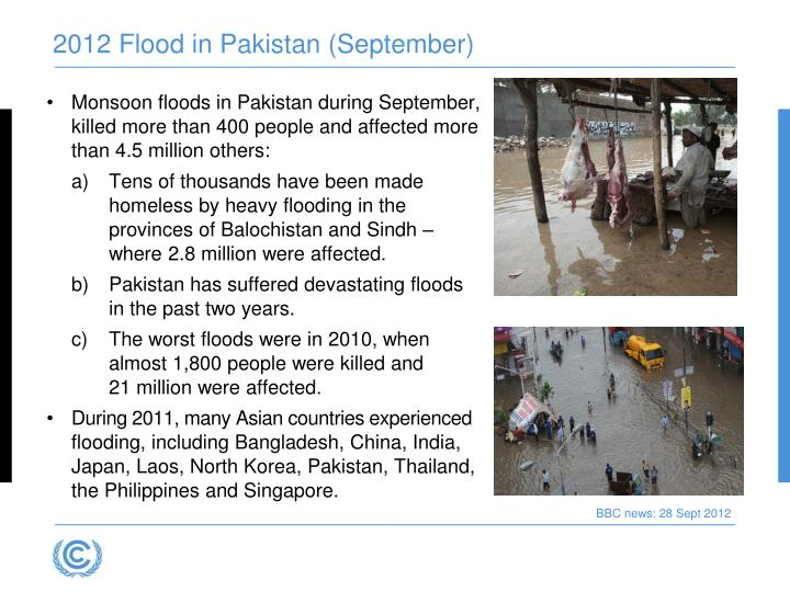 2012 Flood in Pakistan (September)