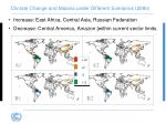 climate change and malaria under different scenarios 2080