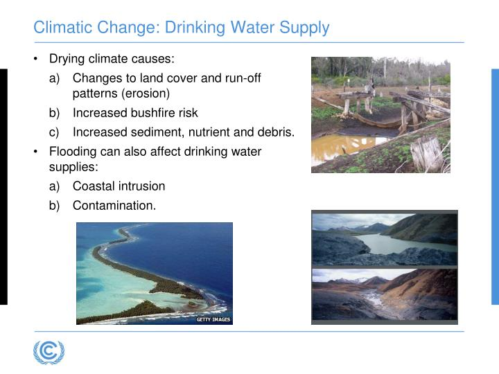 Climatic Change: Drinking Water Supply