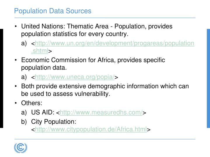 Population Data Sources