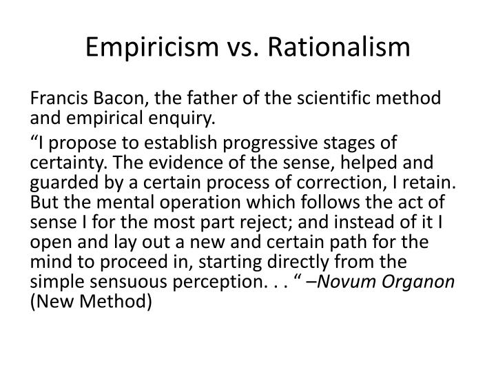 empiricism and rationalism