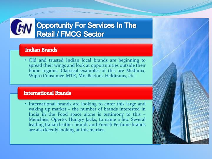 Opportunity for services in the retail fmcg sector