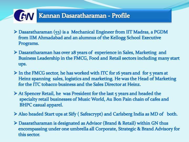 Kannan Dasaratharaman - Profile