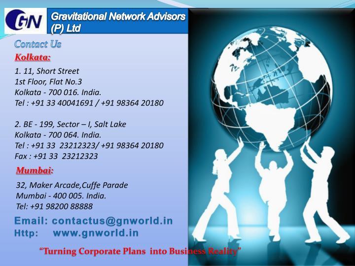 Gravitational Network Advisors