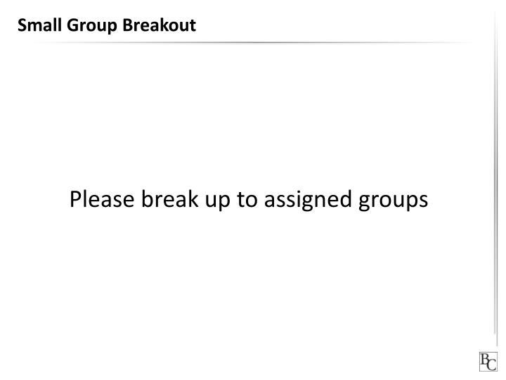Small Group Breakout