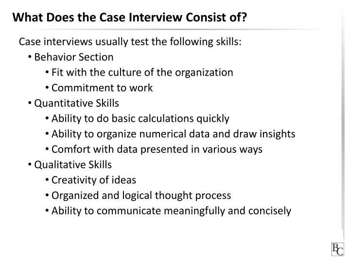 What Does the Case Interview Consist of?
