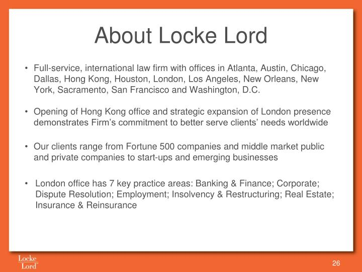 About Locke Lord