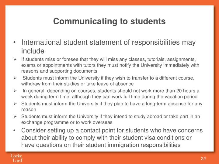 Communicating to students