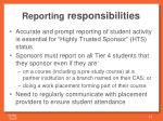 reporting responsibilities1
