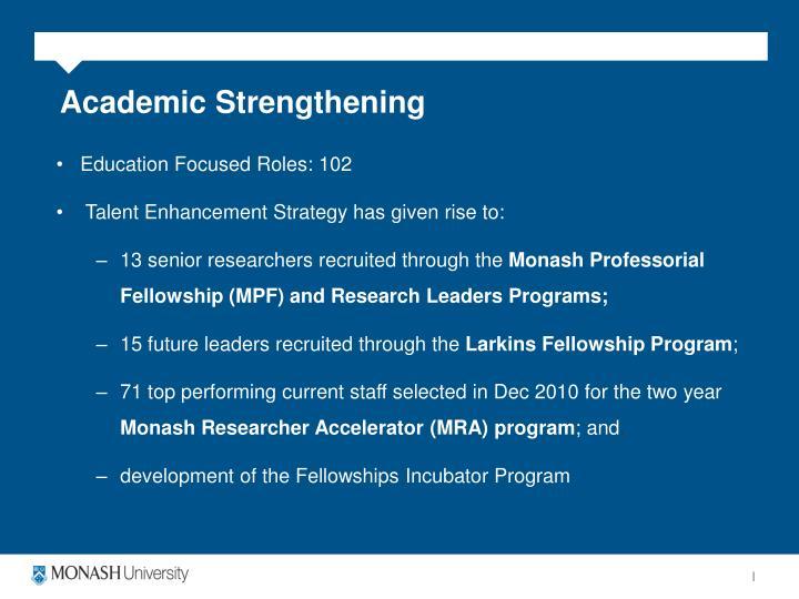 Academic Strengthening