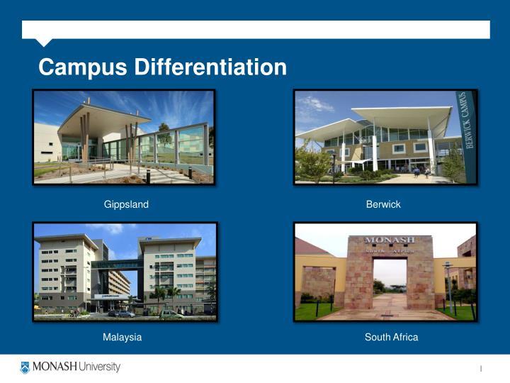 Campus Differentiation