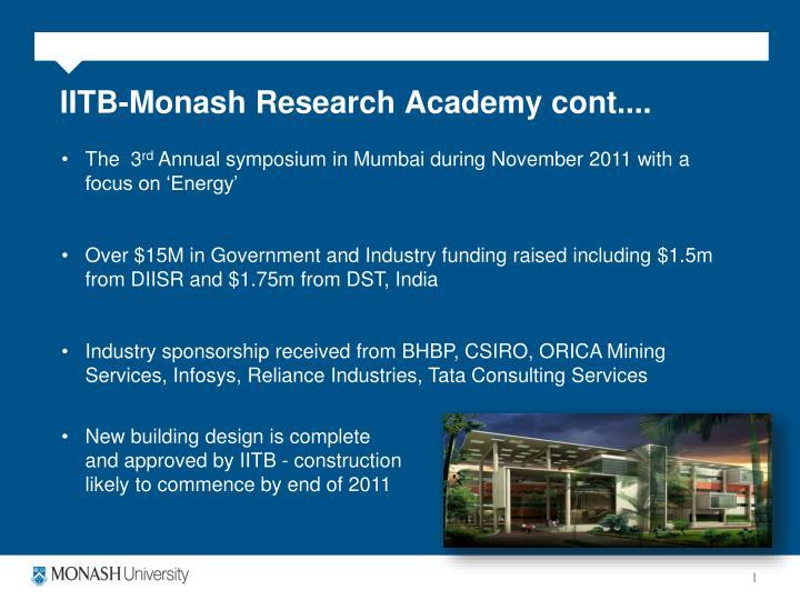 IITB-Monash Research Academy cont....