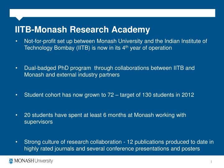 IITB-Monash Research Academy