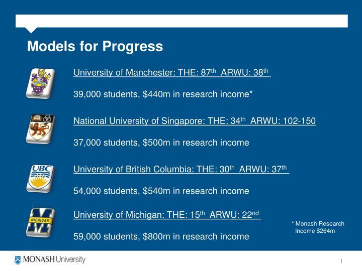 Models for Progress