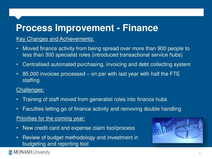Process Improvement - Finance