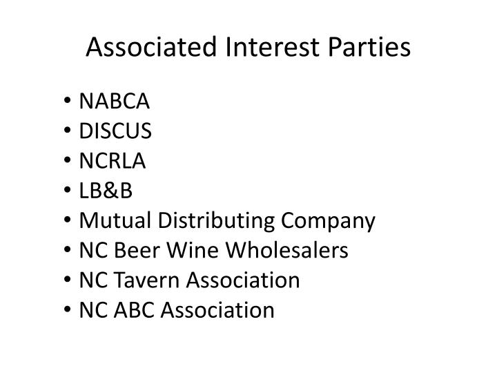 Associated Interest Parties