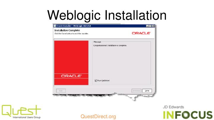 Weblogic Installation
