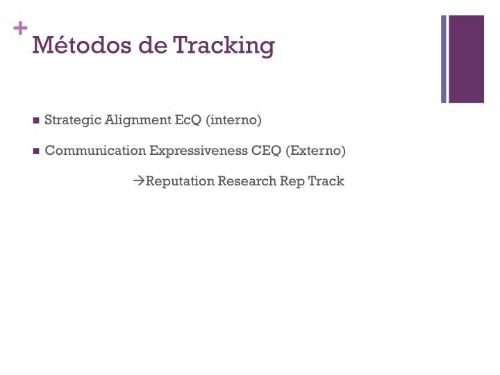 Métodos de Tracking
