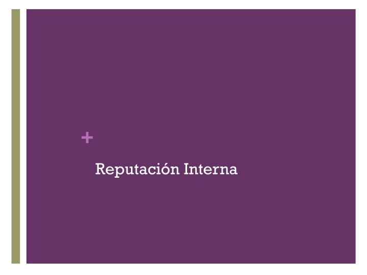 Reputación Interna