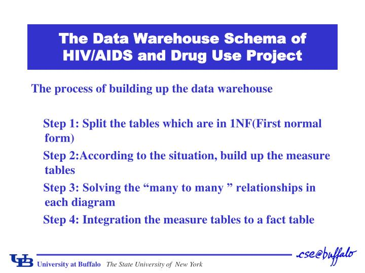 The data warehouse schema of hiv aids and drug use project2