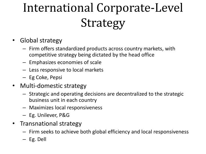 International Corporate-Level Strategy
