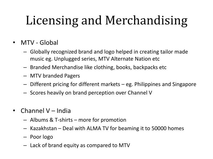 Licensing and Merchandising