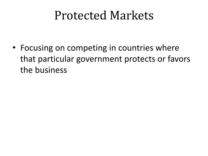 Protected Markets