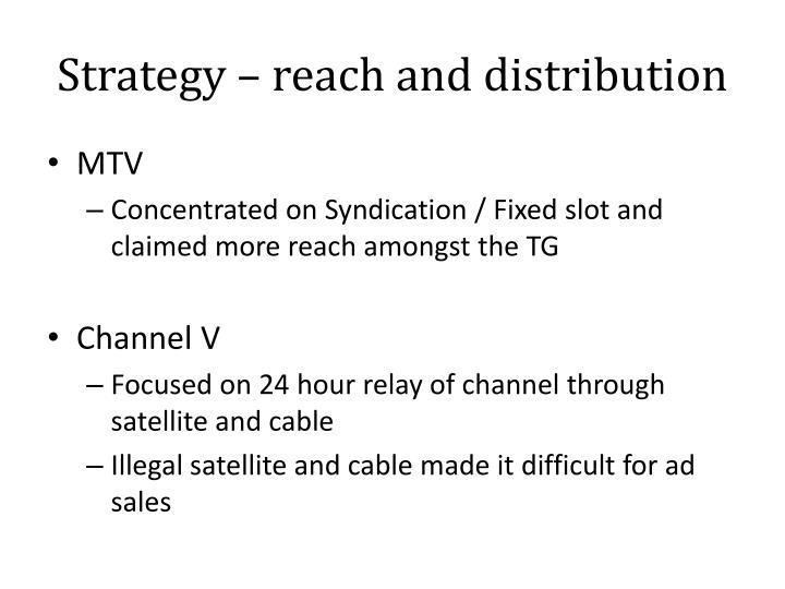 Strategy – reach