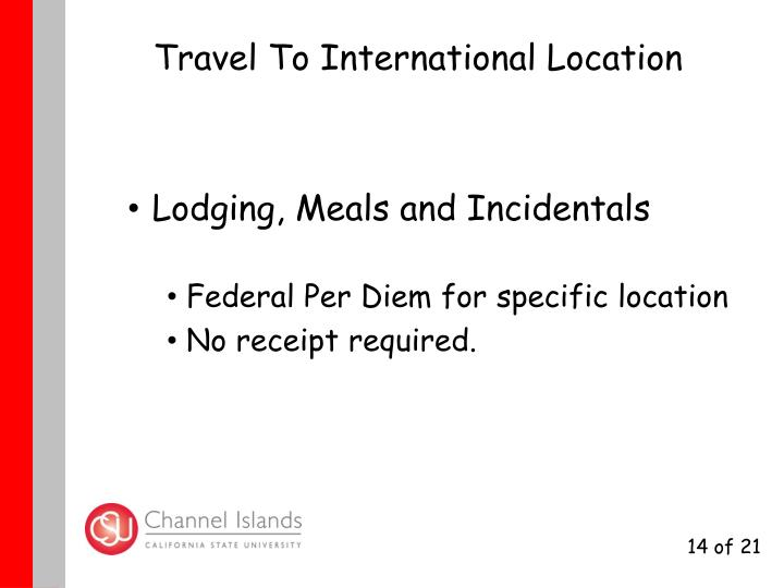 Travel To International