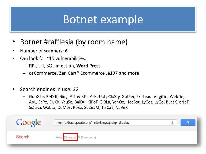 Botnet example