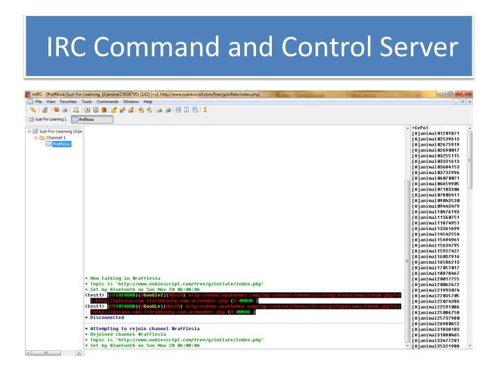 IRC Command and Control Server