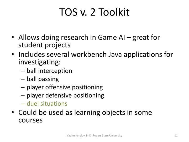 TOS v. 2 Toolkit