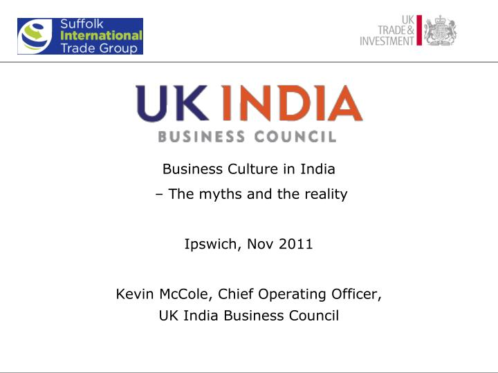 Business Culture in India