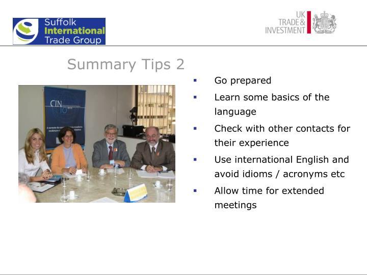Summary Tips 2