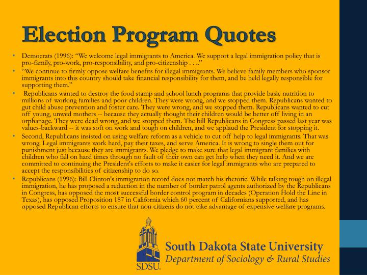 Election Program Quotes