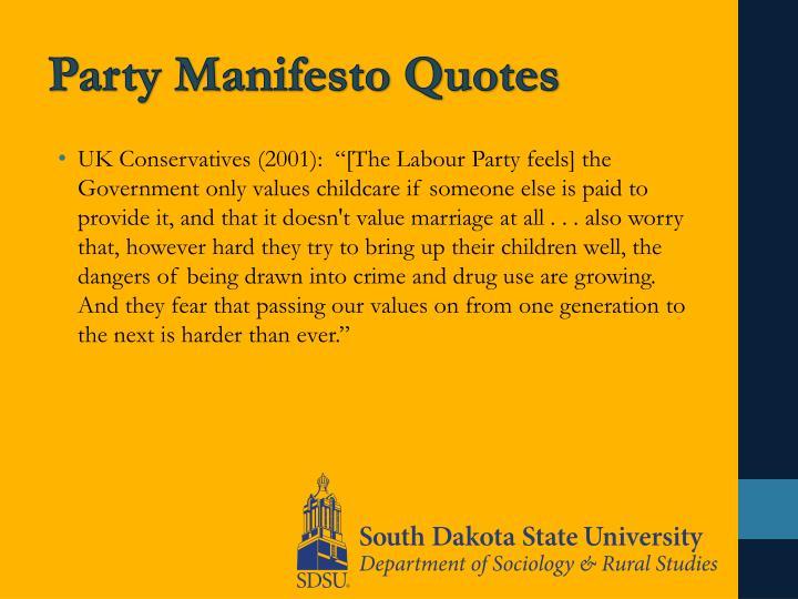 Party Manifesto Quotes
