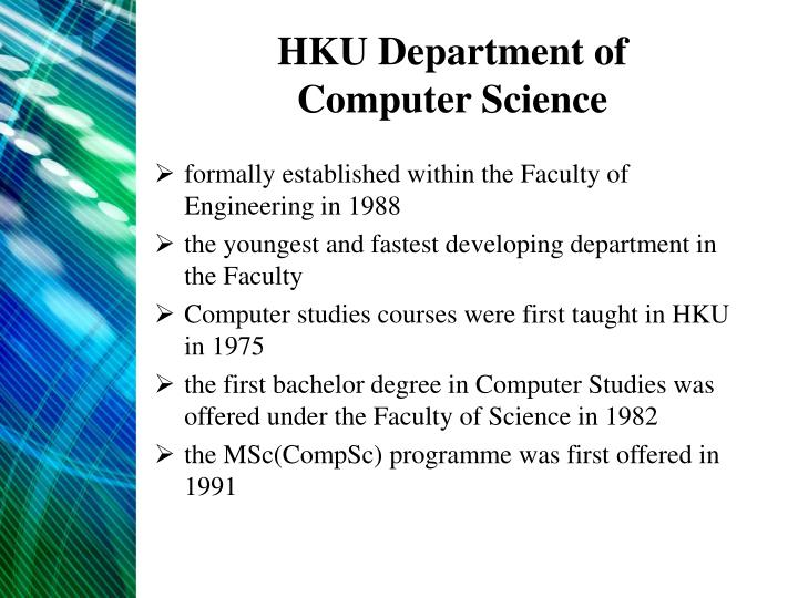 Hku department of computer science