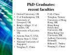 phd graduates recent faculties