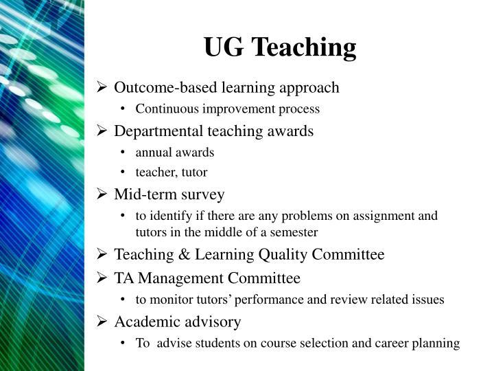 UG Teaching