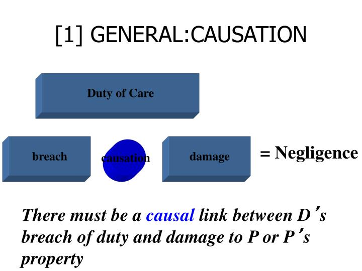 [1] GENERAL:CAUSATION