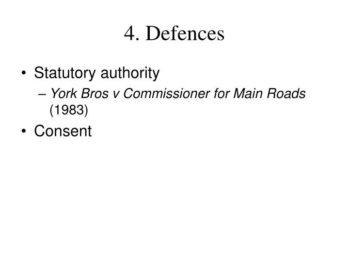 4. Defences