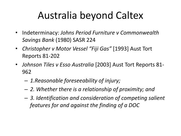 Australia beyond Caltex